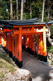 Fushimi Inare Tojii Gates Royalty Free Stock Images