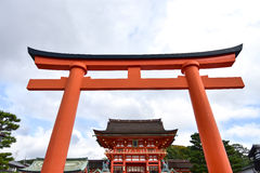 fushimi inari京都寺庙taisha 库存照片