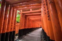 Fushimi Inari arkivfoton