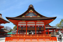 Fushimi Inari. Taisha shrine in Kyoto prefecture of Japan. Famous shinto shrine Stock Photography