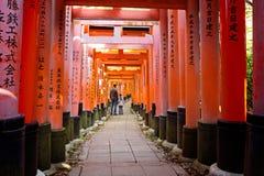 Fushimi Inari i Kyoto arkivbilder