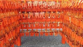 Fushimi Inari relikskrin önska för träsnitt Royaltyfria Bilder