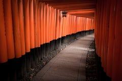 Fushimi Inari relikskrin arkivbild