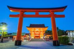 Fushimi Inari relikskrin Arkivbilder