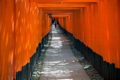 Fushimi Inari relikskrin i Kyoto Fotografering för Bildbyråer