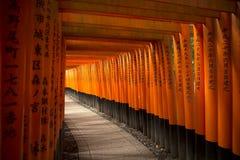 Fushimi Inari relikskrin i Kyoto Arkivbild
