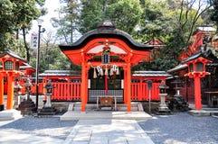 Fushimi Inari relikskrin, Kyoto Arkivfoto