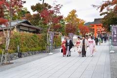 Fushimi Inari relikskrin, Kyoto, Japn royaltyfri foto