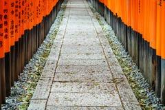 Fushimi Inari relikskrin på Kyoto, Japan Fotografering för Bildbyråer