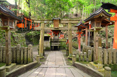 Fushimi Inari Shrine. Small side shrine at Fushimi Inari Shrine in Kyoto, Japan Royalty Free Stock Images