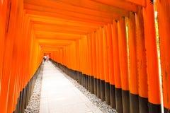 Fushimi Inari Shrine Angled People End Vanishing Royalty Free Stock Photo