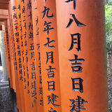 Fushimi Inari Shrine close up Royalty Free Stock Photo