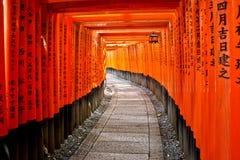 Torii Gates of Fushimi Inari Shrine Stock Photos