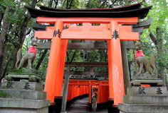 Fushimi Inari Shrine, an important Shinto shrine, in Southern Ky Stock Image