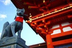 Fushimi Inari Shrine in Japan. The worship temple in Fushimi Inari Shrine in Kyoto, Japan Royalty Free Stock Image