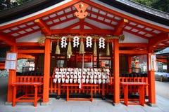 Fushimi Inari Shrine in Japan. The worship temple in Fushimi Inari Shrine in Kyoto, Japan Royalty Free Stock Photo