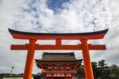 Fushimi Inari shrine in Kyoto, Japan Stock Image
