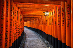 Fushimi Inari shrine in Kyoto, Japan Stock Photography