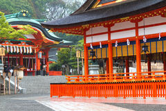 Fushimi Inari Shrine, Kyoto, Japan. KYOTO, JAPAN - MARCH 18: Fushimi Inari Shrine on March 18, 2013 in Kyoto, Japan. This is the head shrine of Inari in Japan Stock Images