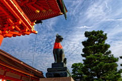 Fushimi Inari shrine, Kyoto Japan. The picture of a fox statue at Fushimi Inari Shrine in Kyoto Japan Stock Photography