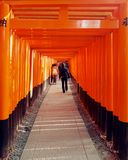 The Fushimi-Inari shrine, Kyoto, Japan stock image