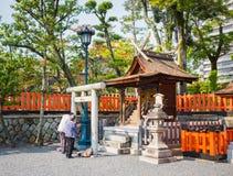 Fushimi Inari Shrine, Kyoto -  SEPTEMBER, 1: Undefined couple pr Royalty Free Stock Photography