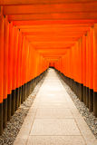 Fushimi Inari Shrine Nobody Centered Middle Torii Royalty Free Stock Images