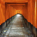 Fushimi Inari Shrine path Royalty Free Stock Photography