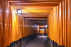 Fushimi Inari Shrine Tori Gates of Kyoto Stock Photo