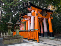 Fushimi Inari Shrine torii gates. Famous old torii gates at the popular Fushimi Inari Shrine in Kyoto, Japan Royalty Free Stock Images