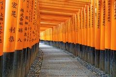 Fushimi Inari Shrine Torii in kyoto Japan Royalty Free Stock Photos