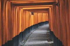 Fushimi Inari Shrine Torii in kyoto Japan Stock Images
