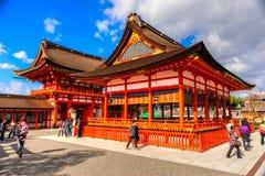 Fushimi Inari Taisha寺庙在京都, 免版税图库摄影