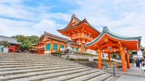 Fushimi Inari-taisha寺庙在京都 库存图片