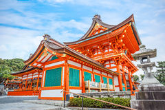 Fushimi Inari-taisha寺庙在京都 免版税图库摄影