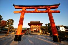 Fushimi Inari-taisha寺庙在京都 免版税库存图片
