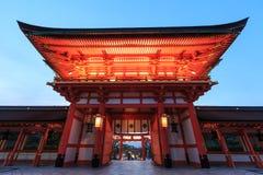 Fushimi Inari Taisha寺庙门在日本 免版税图库摄影