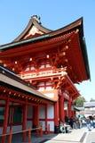 Fushimi Inari Taisha门入口是神Inari的顶头寺庙 库存图片