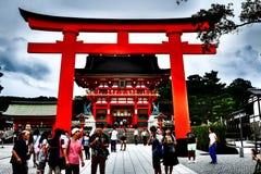 Fushimi Inari-Taisha,古庙在京都,日本 图库摄影