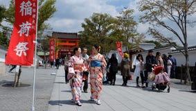 Fushimi Inari Taisha ä ¼  è¦ ‹ç¨ ² è ·å¤§ç¤ ¾ Obrazy Royalty Free