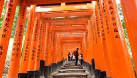 Fushimi Inari Taisha ä ¼  è¦ ‹ç¨ ² è ·å¤§ç¤ ¾ Obraz Stock