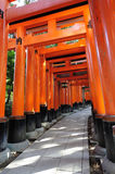 Fushimi Inari Taisha. This shrine is the head shrine of Inari the god of rice and patron of businesses Stock Photography