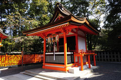 Fushimi Inari Taisha. This shrine is the head shrine of Inari the god of rice and patron of businesses Stock Photo