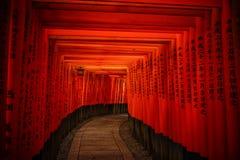 Fushimi Inari Taisha em Kyoto, Japão foto de stock