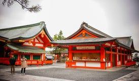 Fushimi Inari Taisha em Kyoto, Japão imagem de stock royalty free