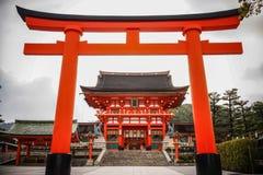 Fushimi Inari Taisha em Kyoto, Japão imagens de stock
