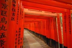 Fushimi Inari-taisha i Kyoto Arkivfoto