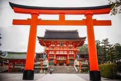 Fushimi Inari Taisha i Kyoto, Japan arkivbild
