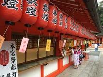 Fushimi-Inari Taisha, Kotyo, Japan Royaltyfri Fotografi