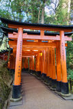 Fushimi Inari Taisha, Kyoto, Japan. The Fushimi Inari Taisha Shrine in Kyoto, Japan, is known for its thousands of orange tori gates Stock Image